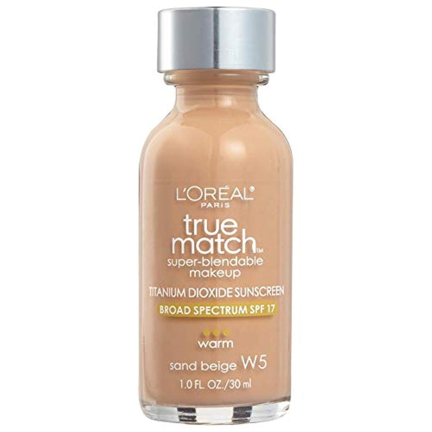 殺人袋家事をするL'Oréal True Match Super-Blendable Foundation Makeup (SAND BEIGE)
