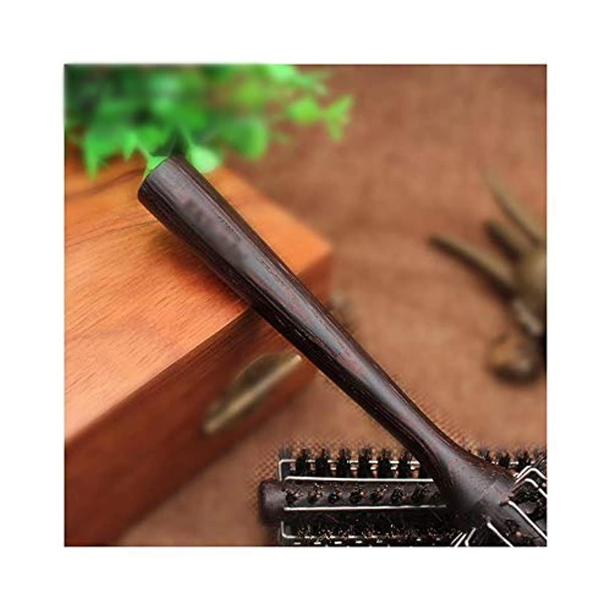 カフェテリアブリード介入するWASAIO すべてのヘアスタイリングのためのヘアブラシヘアカーリング帯電防止ウッドローリングコーム (サイズ : S)