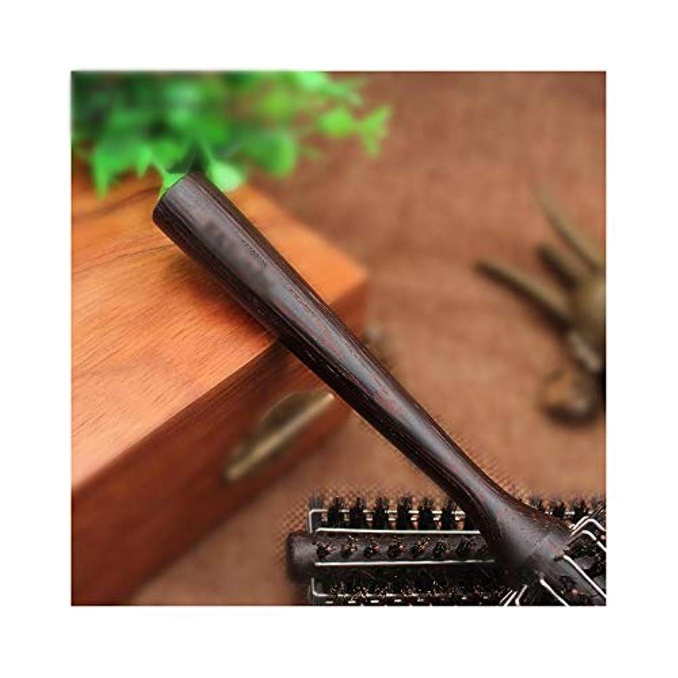 夢グレー真鍮すべてのヘアスタイリングのための抗静的ウッドローリングくし ヘアケア (サイズ : M)