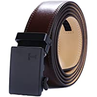 Tonywell Men's Leather Ratchet Dress Belt with Automatic Buckle