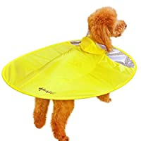 WENFULL 犬のレインコートのテディ服4フィートの防水コートの子犬ペットのポンチョ (Color : イエロー, サイズ : L)