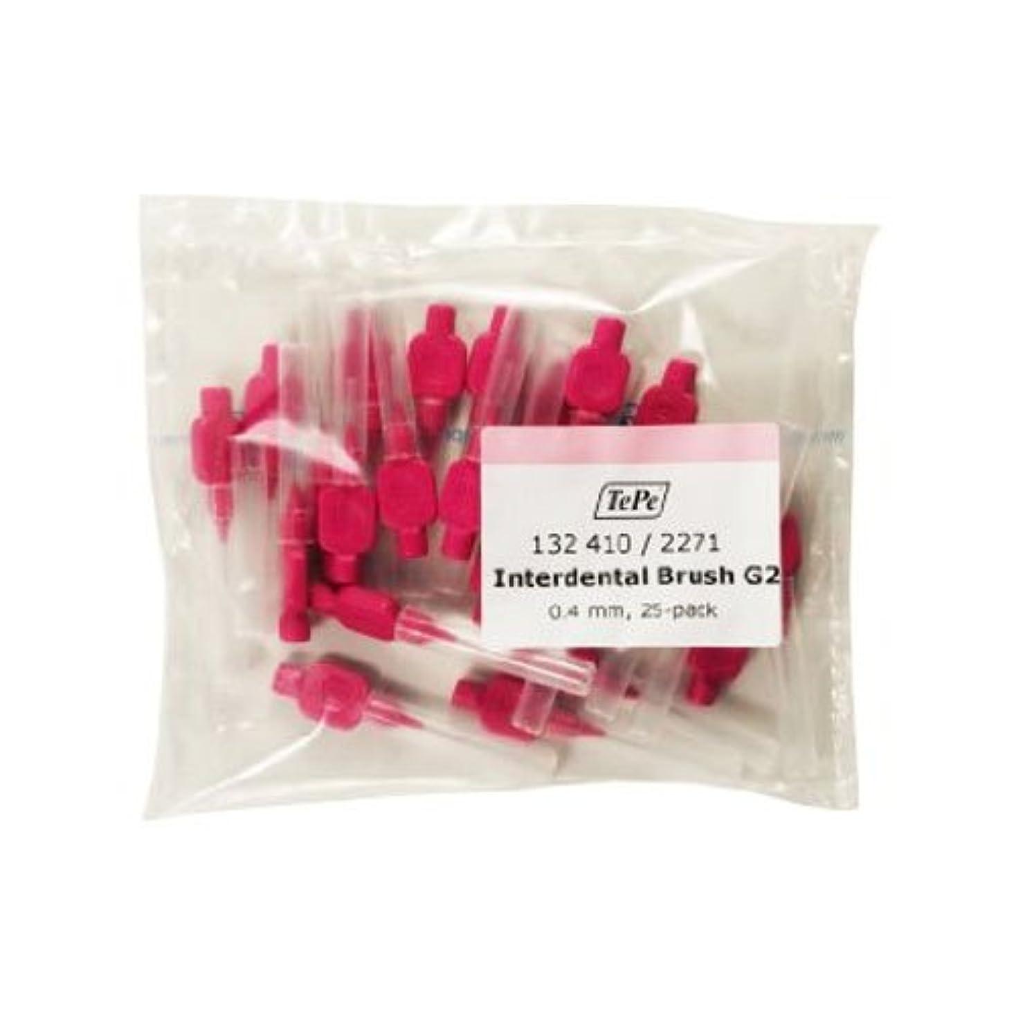 啓発する苦しむセンチメンタルTePe 0.4 mm Size 0 Interdental G2 Brush - Pack of 25 by TePe
