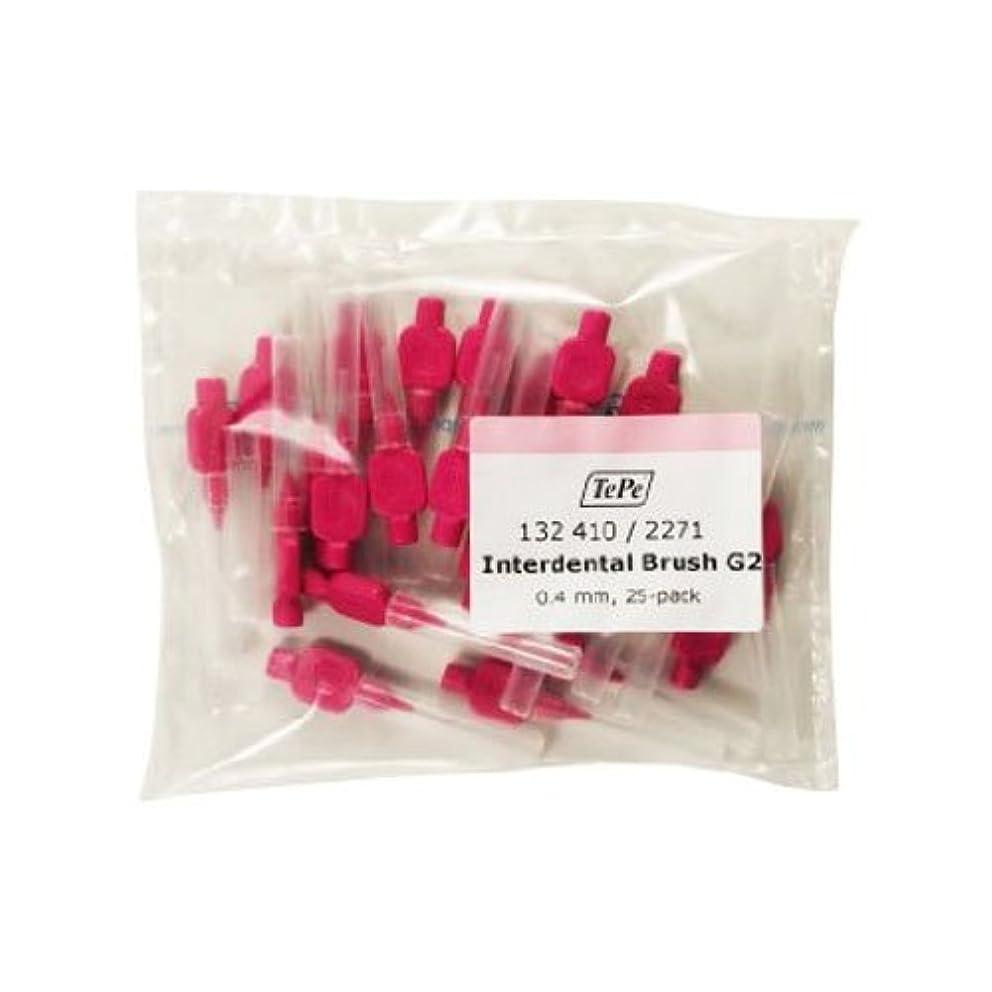 セグメントパスねじれTePe 0.4 mm Size 0 Interdental G2 Brush - Pack of 25 by TePe