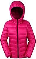 Valuker ダウンジャケット レディース 軽量 高品質 防風 防寒 フード付き( 中身:ダウン90%、フェザー10%) 秋 冬 春 収納袋付きNVDDM02