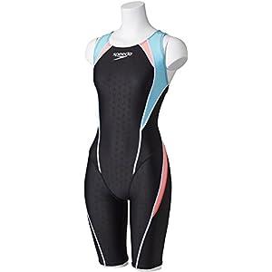 Speedo(スピード) レディース 競泳用 脚付き水着 FLEX シグマ セミオープンバックニースキン IV SD44H05 ライトアドリアティック×ディスコピーチ(AP) L