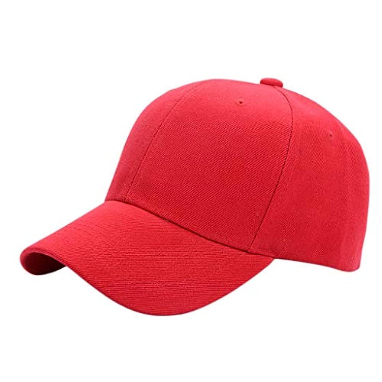 日よけ帽 日曜日の帽子の人および女性の春および夏の屋外スポーツの野球帽の帽子の日焼け止めのバイザー55-59cm ZHAOSHUNLI (Color : Red)