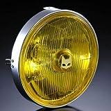 【マーシャル】 ヘッドライト 汎用 889ドライビングランプ 180φ汎用ライトユニット イエローレンズ