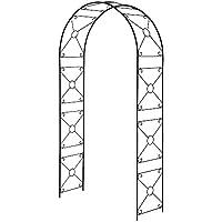 ガーデンアーチ スチール製 アーチ フラワーアーチ ガーデニング パーゴラアーチ 幅114×高さ210cm ブラック