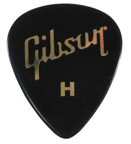 Gibson ピック ティアドロップ HEAVY-BLK ×10枚セット