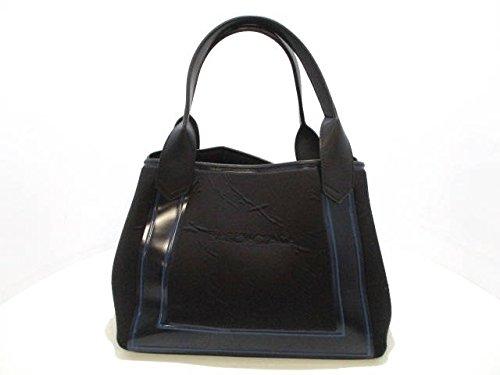 (バレンシアガ)BALENCIAGA トートバッグ ネイビーカバS 黒×ブルー 339933 【中古】