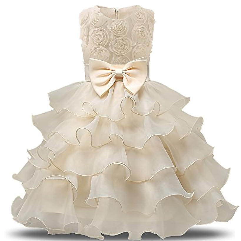 名義で聴くフィットネスNNJXD ガール ドレス キッズ フリル レース パーティー ウェディングドレス US サイズ: 0-6 Months