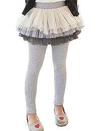 女の子 スカート 子供用 レギンス付き3段チュチュスカート キッズ 10分丈 普通/裏起毛 スカッツ 子供用 チュールスカート 90 100 110 120 130 140cm