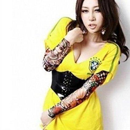 SHINA 6枚入 タトゥー スリーブ ボディアート アームストッキング 入れ墨 刺青 フェイクスリップ 6種類 1セット 897 (typeC)