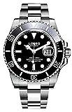 57 POWERS ダイバーズウォッチ 腕時計 200m防水 機械式 自動巻 サブ デイト メンズ (ブラック)