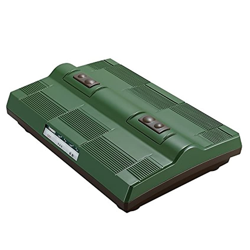 圧力教育テザーTWINBIRD タタキ&振動フットマッサージャー グリーン EM-2563GR