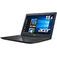 【Amazon.co.jp限定】Acer ノートパソコン Aspire E 15 Core i3-7020U/15.6インチ/4GB/1TB/ドライブなし/Windows 10/ブラック/E5-576-N34G/K