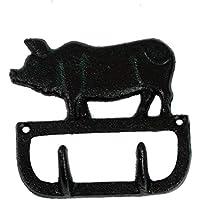 PIG ブタ 鋳物 キャストアイアン インダストリアル ガレージ 壁掛け フック ガーデニング DIY おしゃれ ;AVSB-095