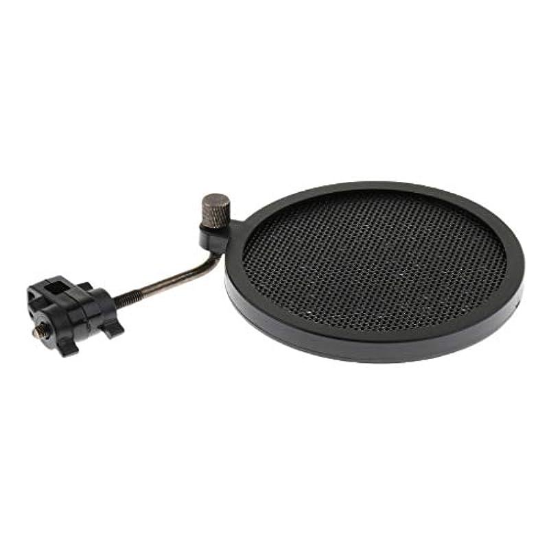 電話する抜け目がない改修D DOLITY ポップガード ポップフィルター 金属製 丸型 調整可能 マイク雑音防止 外径約80mm