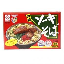 ソーキそば 箱入 (ソーキ・だし付) [生麺] 101872 3人前×4箱 サン食品 あっさりとしたスープにとろとろに煮込まれたボリューム満点の軟骨ソーキ 沖縄土産にぴったり