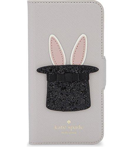 kate spade【ケイトスペード】シルクハット うさぎ レザー iPhone7ケース bunny applique [並行輸入品]