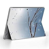 Surface go 専用スキンシール サーフェス go ノートブック ノートパソコン カバー ケース フィルム ステッカー アクセサリー 保護 その他 雪 冬 001465