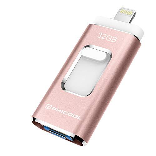 PHICOOL フラッシュドライブ USBメモリー 32GB...