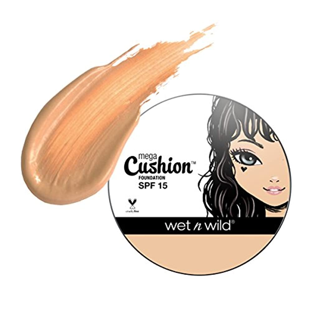 ミトングレートオーク身元(6 Pack) WET N WILD MegaCushion Foundation SPF 15 - Buff Beige (並行輸入品)
