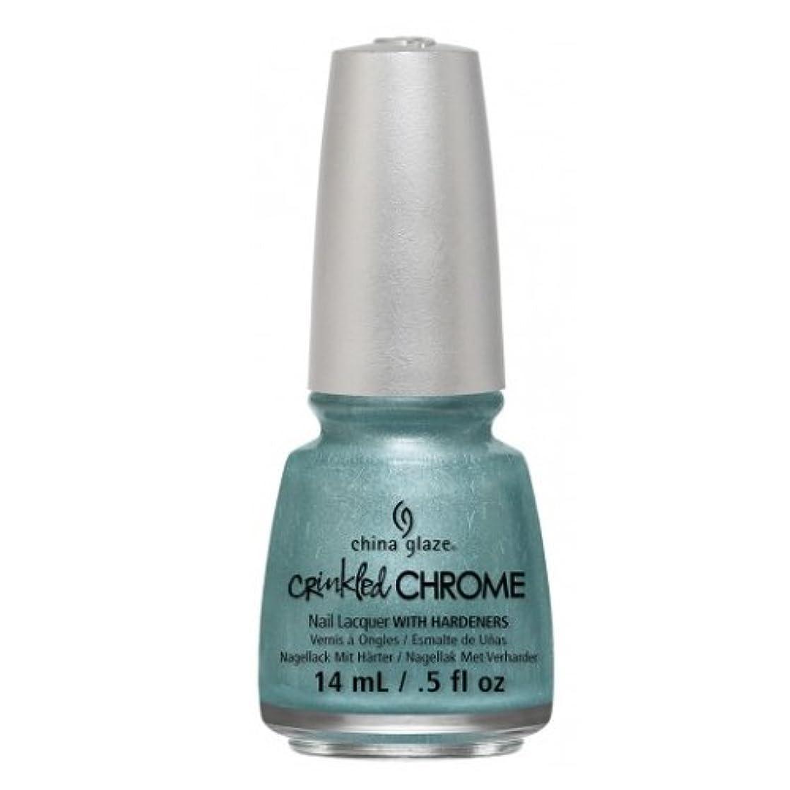 アメリカ紛争硬い(6 Pack) CHINA GLAZE Nail Lacquer - Crinkled Chrome - Don't Be Foiled (並行輸入品)