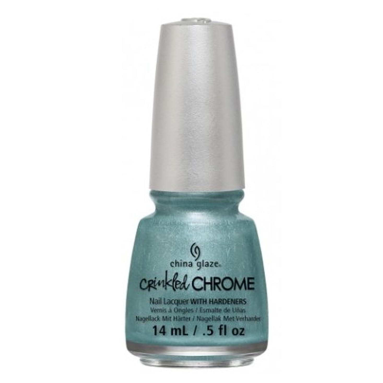 スリップシューズ回転腐食する(3 Pack) CHINA GLAZE Nail Lacquer - Crinkled Chrome - Don't Be Foiled (並行輸入品)