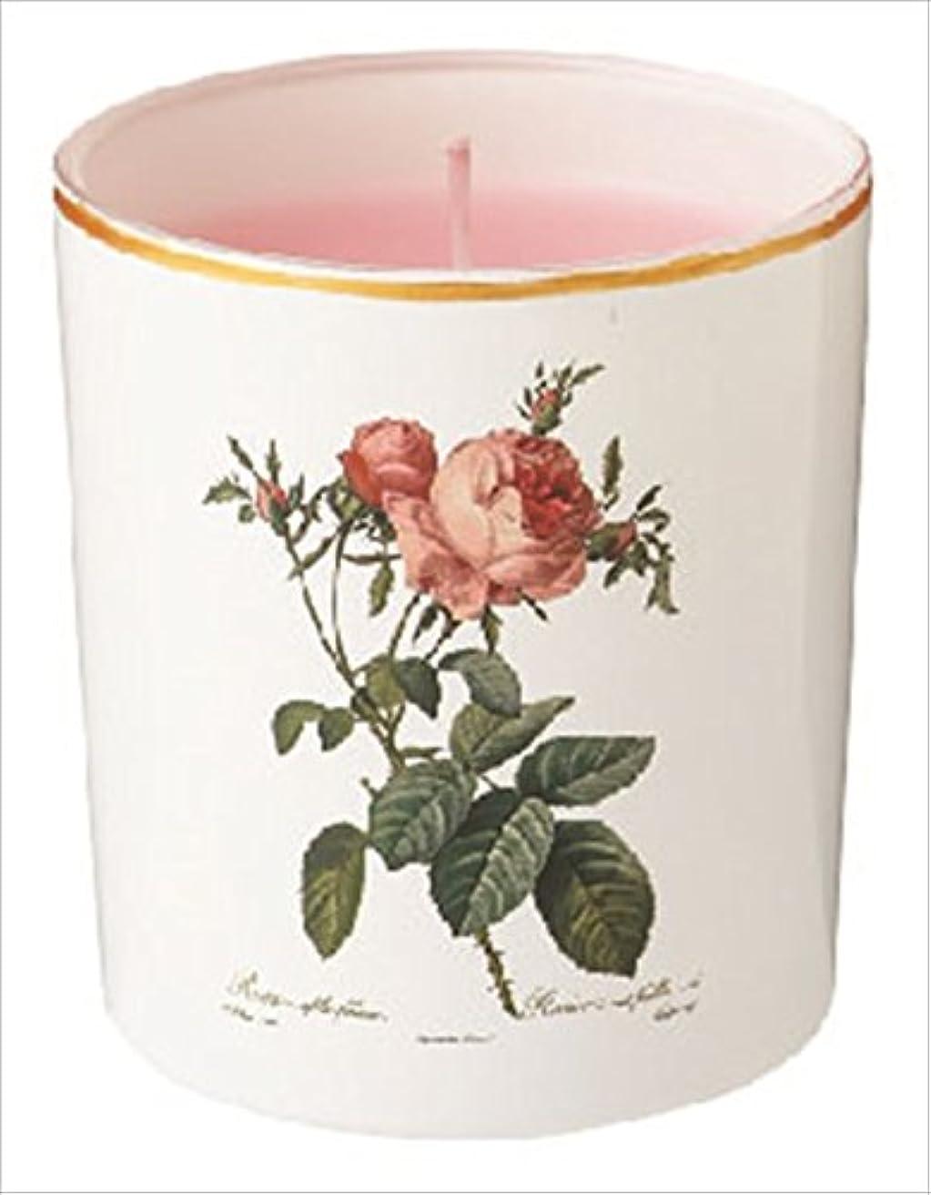幻想未亡人水を飲むカメヤマキャンドル(kameyama candle) ルドゥーテ グラスキャンドル 「 ピュアローズ 」