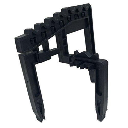【簡単装着】アイアン 専用 ホルダー 9本用 ゴルフバッグ 固定式 (ブラック)