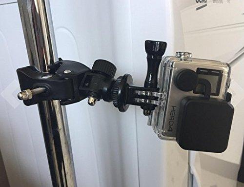 『MyArmor カメラホルダー カメラスタンド オートバイ・バイク・自転車 ハンドルに カメラ/GoPro/デジカメ/ドライブレコーダー を 固定 自由雲台 三脚 はさみ込式 (カメラマウントのみ)』の6枚目の画像