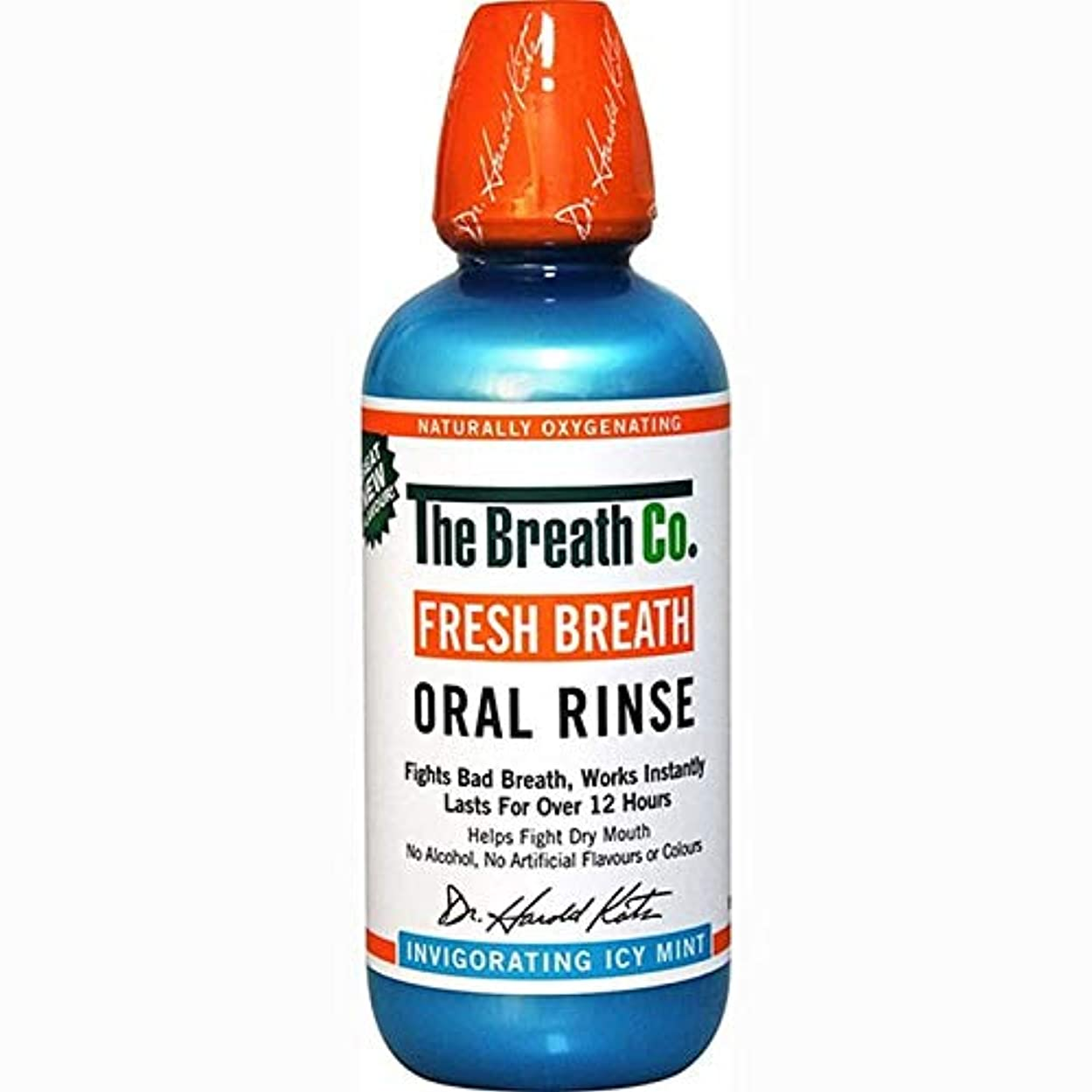 遠足飲み込む調停者[The Breath Co] 息のCo新鮮な息口腔リンス氷のミント500ミリリットル - The Breath Co Fresh Breath Oral Rinse Icy Mint 500ml [並行輸入品]