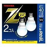 東芝 電球形蛍光ランプ A10形・口金E17・昼光色【2個入】TOSHIBA ネオボールZミニクリプトン電球40WタイプA形 EFA10ED/8-E17-S-2P