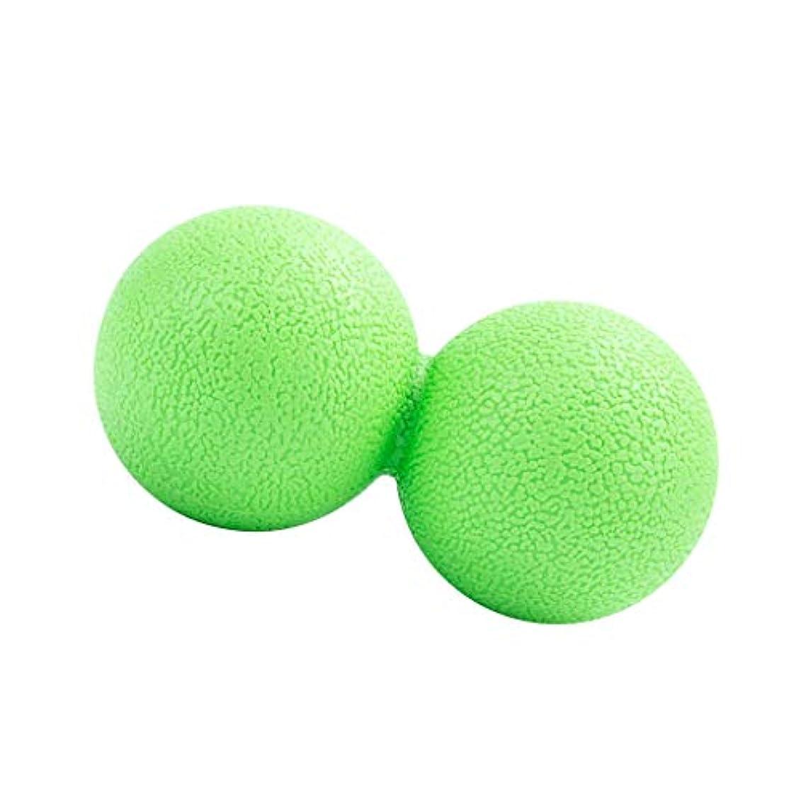 道徳ためらうエネルギーマッサージボール ピーナッツ型 筋リラクサー モビリティボール 健康器具 全2色 - 緑, 13cm
