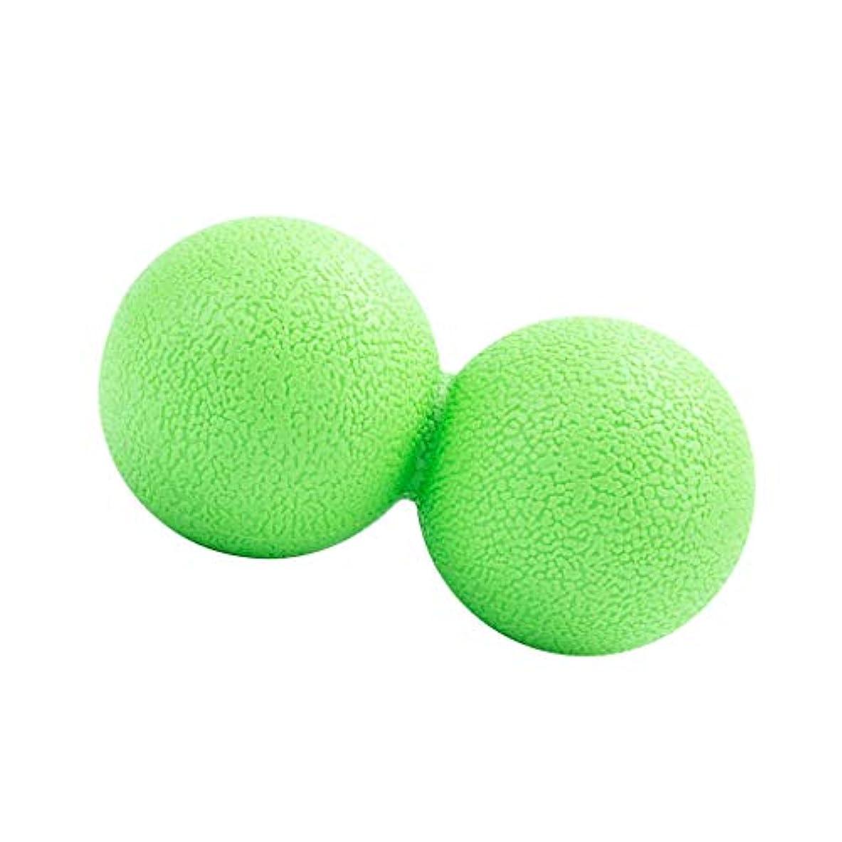 辞書苦行甥マッサージボール ピーナッツ型 筋リラクサー モビリティボール 健康器具 全2色 - 緑, 13cm