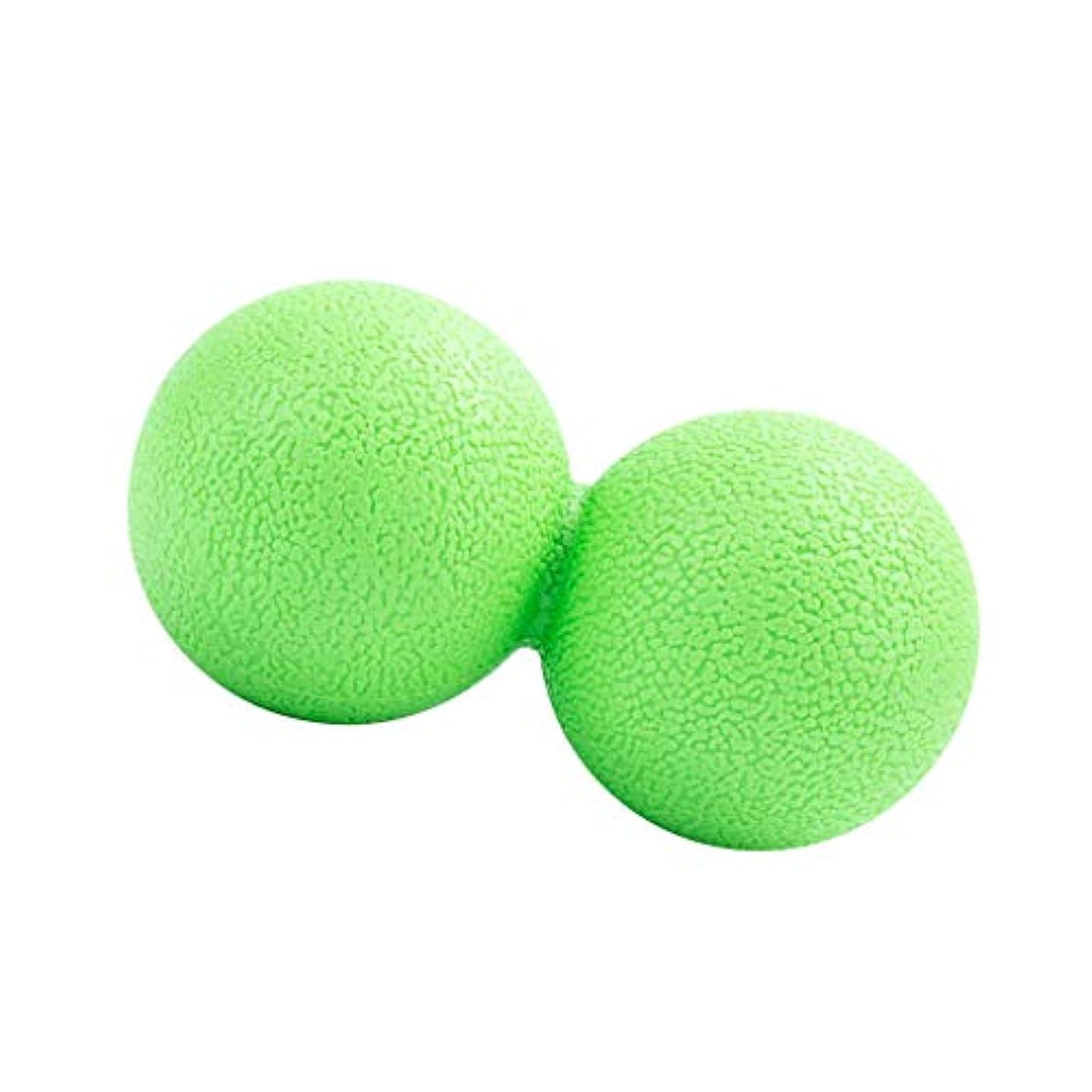 動かないはっきりしない合唱団マッサージボール ピーナッツ型 筋リラクサー モビリティボール 健康器具 全2色 - 緑, 13cm