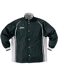 アシックス(asics) ジュニア ウォームアップジャケット XBJ118 9011 ブラック/Mシルバー 160