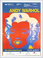 ポスター アンディ ウォーホル Un Mito Americano 額装品 ウッドハイグレードフレーム(ホワイト)