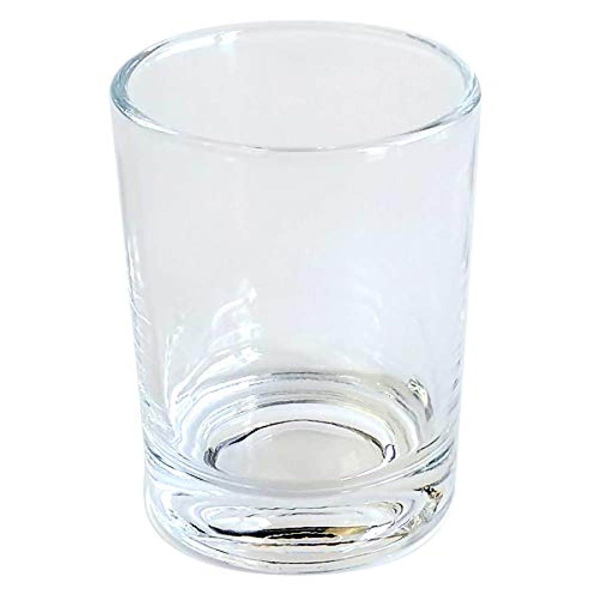 材料質量遅いキャンドルホルダー ガラス シンプル[大] 1個 キャンドルスタンド ろうそく立て おしゃれ