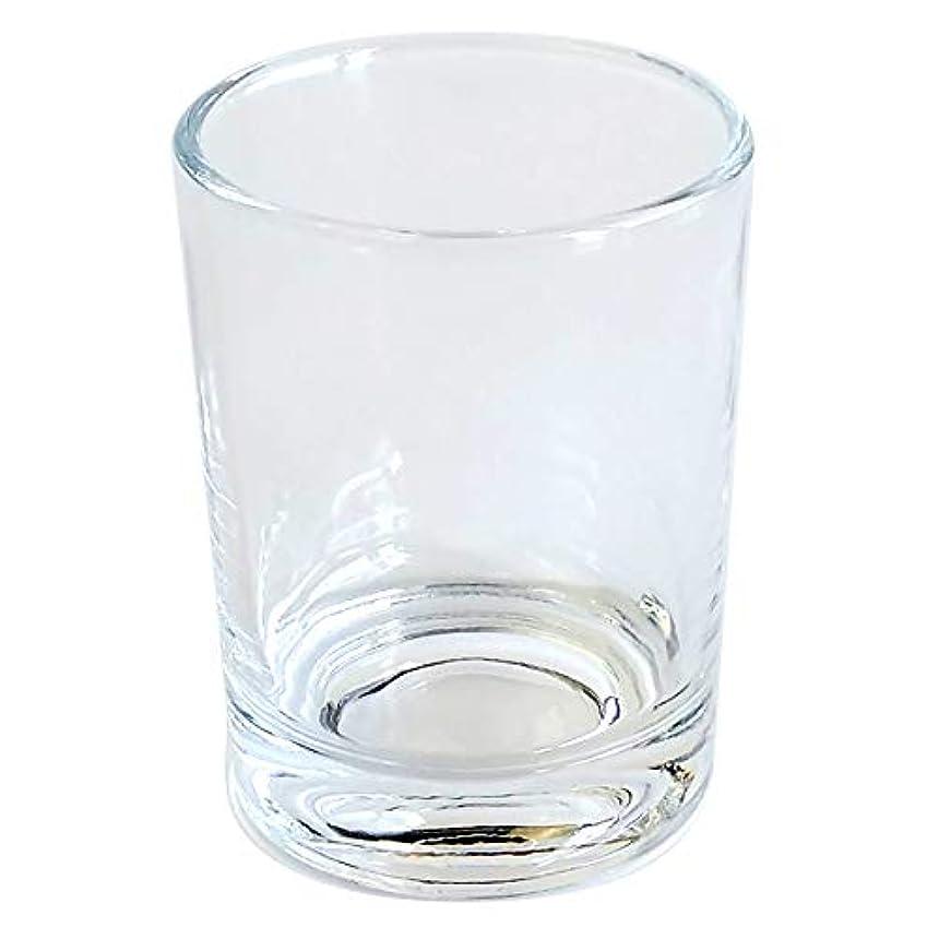 理論的キャリア喜んでキャンドルホルダー ガラス シンプル[大] 1個 キャンドルスタンド ろうそく立て おしゃれ