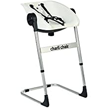 CharliChair 2-in-1 Baby Shower Chair - black / silver