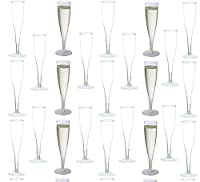 30 pc Clear Plastic Classicware Glass Like Champagne Wedding Parties Toasting Flutes [並行輸入品]