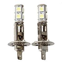 SODIAL(R)2個 H1 9 SMD LED スポット フォグランプ カー用バルブライト12V 1.2W