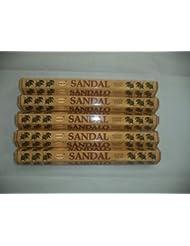 HEM Sandal (Sandalwood) 100 Incense Sticks (5 X 20 Stick Packs) by Hem