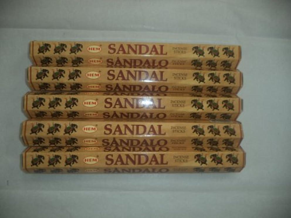検体検体グラマーHEM Sandal (Sandalwood) 100 Incense Sticks (5 X 20 Stick Packs) by Hem