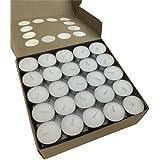 200pcs Tea Light Candles 9 Hour Burn Tealight Wedding Smokeless Crystal Wax Bulk