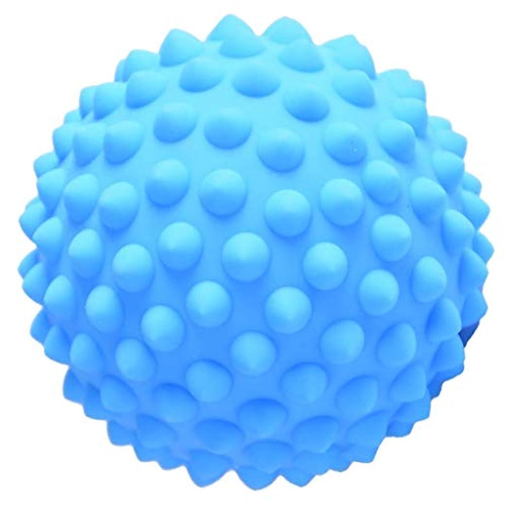 それら交差点わかりやすいハードPVC 9センチのとがったマッサージローラーボール指圧ボディリラクゼーションマッサージ - 青, 説明のとおり