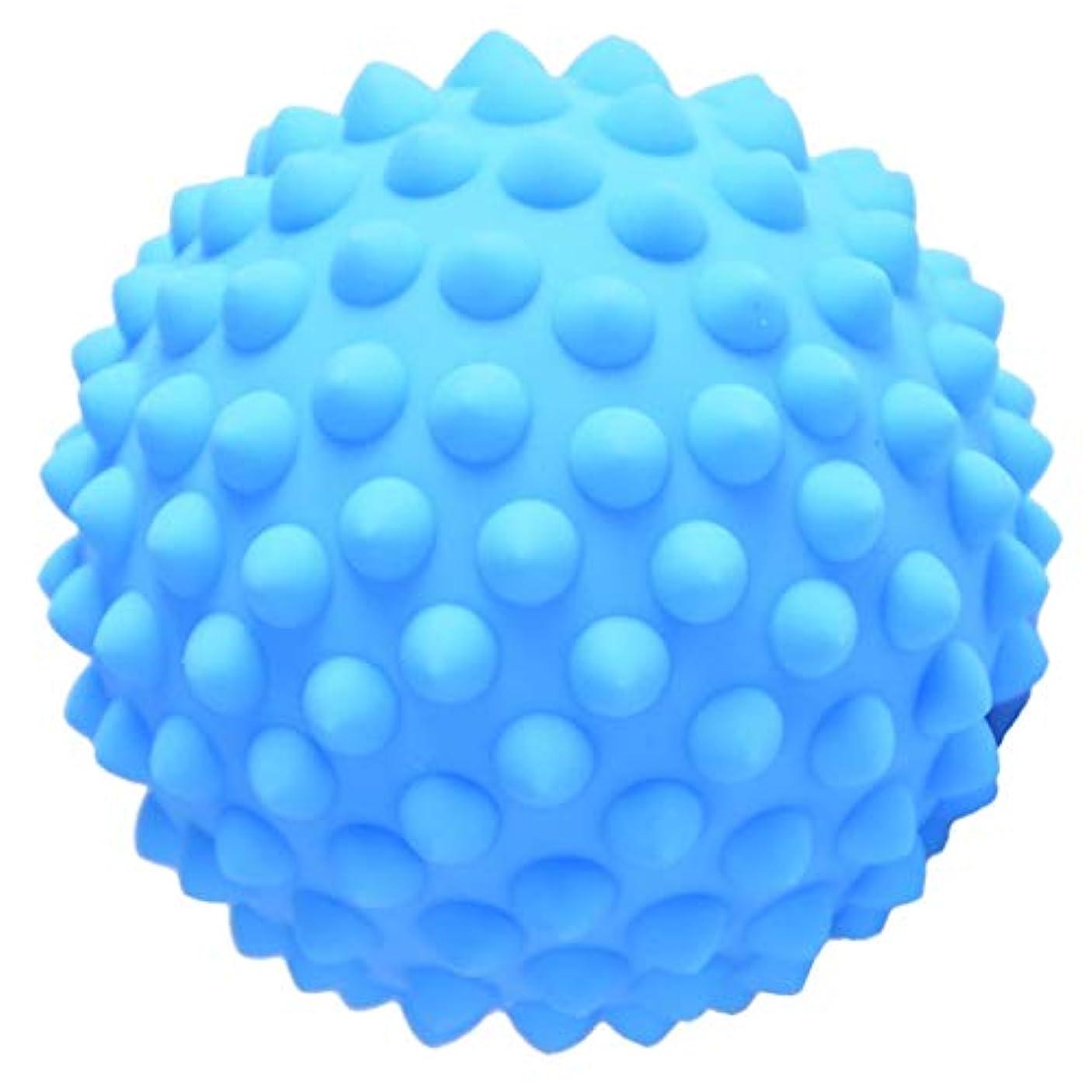プレーヤー強風薄いハードPVC 9センチのとがったマッサージローラーボール指圧ボディリラクゼーションマッサージ - 青, 説明のとおり