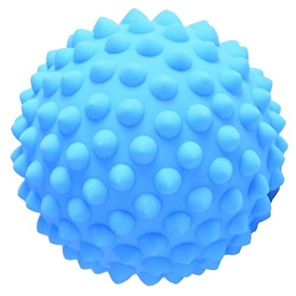 アセンブリ体崇拝するHellery ハードPVC 9センチのとがったマッサージローラーボール指圧ボディリラクゼーションマッサージ - 青, 説明のとおり